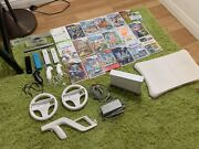 Nintendo Wii Bundle - 20 Games 4 Controllers And More Excellent Condition