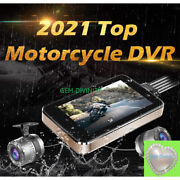 2021 4 Motorcycle Dvr Dash Cam Wifi Fhd Front Rear View Camera Gps Logger Recor