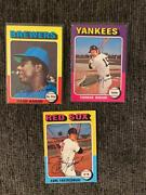 1975 Tops Baseball Cards- Hall Of Fame Cards