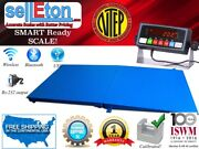 Ntep 5and039 X 5and039 60and039and039 X 60and039and039 Pallet Size Floor Scale With Ramp 2500 Lbs X 0.5 Lb