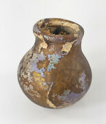 Antique Early Roman Ancient Iridescent Luster Glass Vase Bottle Antiquity Classi