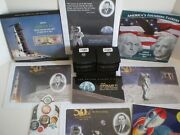 2019 Apollo 11 Collection U.s. Mint And Bep Issued Apollo 11 Products + Bonuses