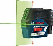 Bosch Gcl100-80cg 12v Max Connected Green-beam Cross-line Laser W/ Plumb Points