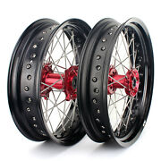 Crf 250 450 R X 3.5and039and039 X 17and039and039 Moyeux Roues Randeacuteglandeacutees Pour Honda Cr 125 250 R 02-07