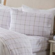 Great Bay Home 3 Piece Extra Soft Snowflake 100 Turkish Cotton Flannel Sheet Se