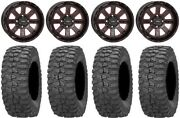 System 3 St-4 14 Wheels Red 28 Rock-a-billy Tires Honda Foreman Rancher Sra
