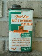 Rare Vintage Gm Accessories Nut-eze Rust And Corrosion Penetrant 8oz Can