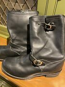 Chrome Hearts Menandrsquos Black Leather Motorcycle Boots 14