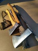 Vintage Genuine Norlund Hudson Bay Style Tomahawk Axe And Hatchet Lot