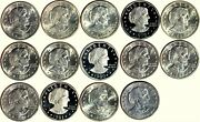 Susan B. Anthony Dollars Set 14 Coins 1979-1999 Unc And Proof K11932