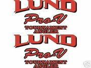 Lund Boats Pro V Series Decals
