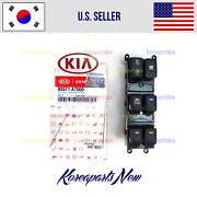 Front Driver Door Window Main Switch 93571a7000 ⭐auto Down⭐ Fits Forte 2014-2018