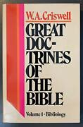 Great Doctrines Of Bible Volume 1 - Bibliology By W. A. Criswell - Hardcover