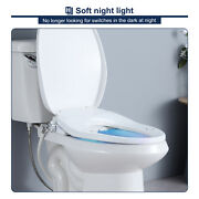 Smart Electric Bidet Warm Toilet Seat Double Nozzles Self-cleaning Slow Close