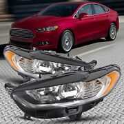 For 2013 2014 2015 2016 Ford Fusion Headlights Lights Lamps Pair Set Left+right