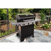 Bbq Grill Gas Barbecue Outdoor Infrared 3-burner Propane Black Patio Side Burner