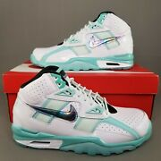 Nike Air Trainer Sc High Abalone Athletic Shoes Mens Size 9.5 White Teal Blue