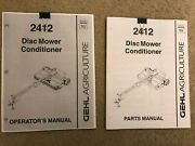 Gehl 2412 Disc Mower Conditioner Operators Manual And Parts Manual 2 Books