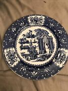 5 Copeland China England China Flow Blue Willow Dinner Plate For Co. 326