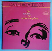 The Magic Of Sarah Vaughan Lp 1959 Original Stereo Great Condition Vg+/vg++b