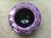 Studio Cameo Glass Dish By Very Good Artist Steve Bradley Sign On The Front