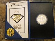 Nfl Official 75th Game Coin Super Bowl Xxix Sterling Silver Commemorative Flip