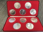 Air Canada Wings Across Time 1937 1977 40 Years 10 Medal Set Royal Canadian Mint