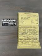 One Owner 1965 Ford Galaxie Custom 500 2 Door Sedan Post Collectible Documents
