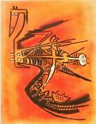Wifredo Lam Soeur De La Gazelle Lithograph Signed And Numbered In Pencil