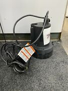 Simer 2955-04 1/3 Hp Thermoplastic Submersible Sump Pump Tethered Switch Utility