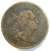 1794 Liberty Cap Large Cent 1c Coin - Certified Anacs Vf25 Details - Rare Coin