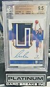 2018-19 National Treasures Luka Doncic Rookie Patch Auto Gold /10 9.5/10 Fire