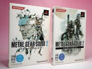 Used Ps2 Metal Gear Solid 2 Substance And Sons Of Liberty Set Konami From Japan