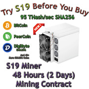 Rent S19 Antminer. 95 Th/s Guaranteed 48 Hours Mining Contract Lease Sha256 Btc