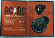 Australian 2018 5 Dollar And 50 Cents Coin Ac/dc 45 Years Of Thunder Unc Sold Out
