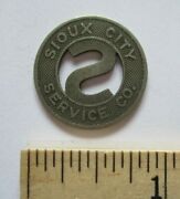 Vintage Sioux City Service Co. Iowa Ia Trolley Bus Transit Token One Fare