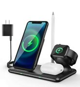 Tekpluze 4 In 1 Wireless Charger Iphone, Airpod, Apple Watch, Apple Pencil
