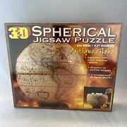 3d Spherical Jigsaw Puzzle - Antique Globe - New Sealed