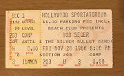1986 Bob Seger And The Silver Bullet Band Hollywood Florida Concert Ticket Stub