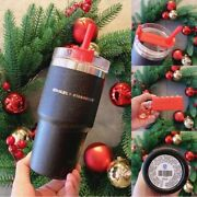 New Starbucks China Black Gold Stainless Steel Strawcup Stanley Black Cup 20oz
