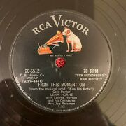Rca Victor 20-6512 Lena Horne 78rpm From This Moment On/running Running Running