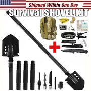 Survival Shovel First Aid Kit Tactical Spade Hunting Camping Emergency Gear Tool