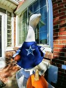 Goose Clothes 4 Lawn Geese Dallas Cowboys Football Lawn Cement Plastic Comb Ship