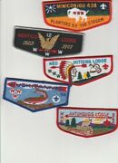 5- Order Of The Arrow lodge Flaps