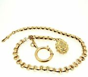 Chain For Pocket Watch Antique Fine '800 In Gold Solid 18k Made In Italy