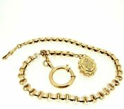 Chain For Pocket Watch Antique Fine And039800 In Gold Solid 18k Made In Italy