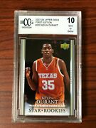 2007 Upper Deck 1st First Edition Kevin Durant Rookie Rc Beckett Graded Bccg 10