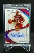 2019-20 Panini Immaculate Collection Clyde Drexler Shadowbox Auto 1/1 - Rockets
