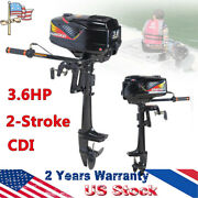 New 2 Stroke 3.6hp Complete Outboard Motor Fishing Boat Engine Water Cooling Cdi