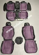 Katzkin Dodge Charger Rt R/t Black And Purple Leather Seat Covers 2015 - 2021